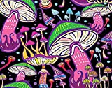 Trikptey Psychedelic Art Paint by Numbers Crazy Fantasy Forest Hippie Magic Mushroom Mystery Trippy DIY Canvas Acrylic Oil Painting by Numbers for Adults Kids Home Wall Without Frame 16'x16'