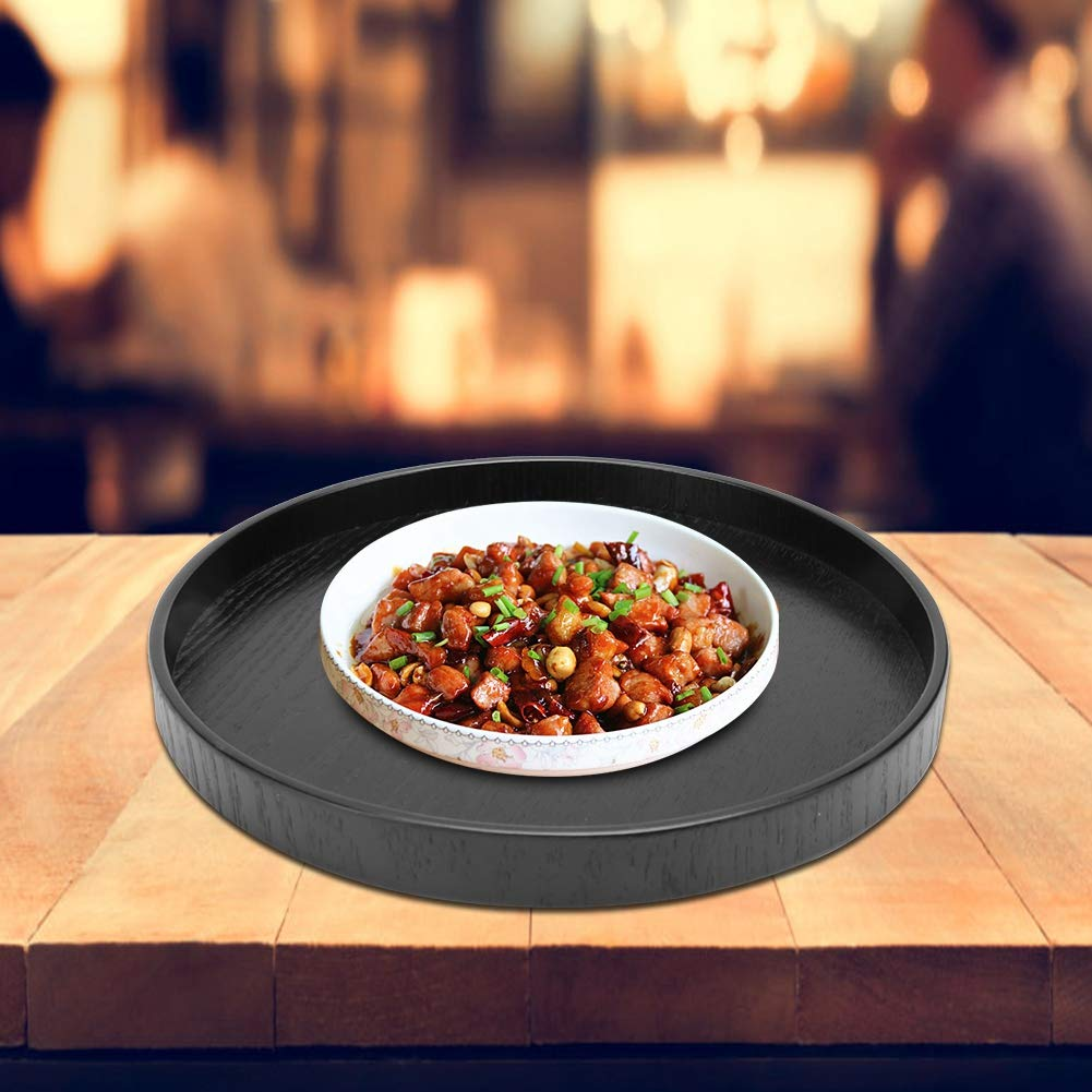 Round Translated Wooden Plate Wearable New product!! for 12 Black Teahouse 24cm