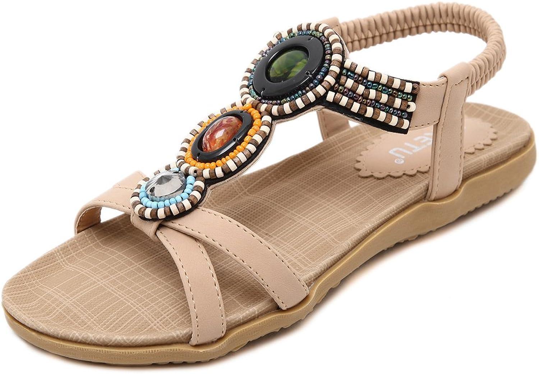 Hanglin Trade Womens Flat Sandals Ankle Strap Buckle Platform Flip Flop Casual Summer shoes Beach shoes