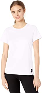 CALVIN KLEIN Women's Crew Neck T-Shirt (Standard and Plus), White, Large