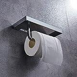 ZHTY Tenedor de Papel higiénico Accesorios de baño de latón Soporte de Tejido Toalla Rack Tiro Inodoro Dispensador con...