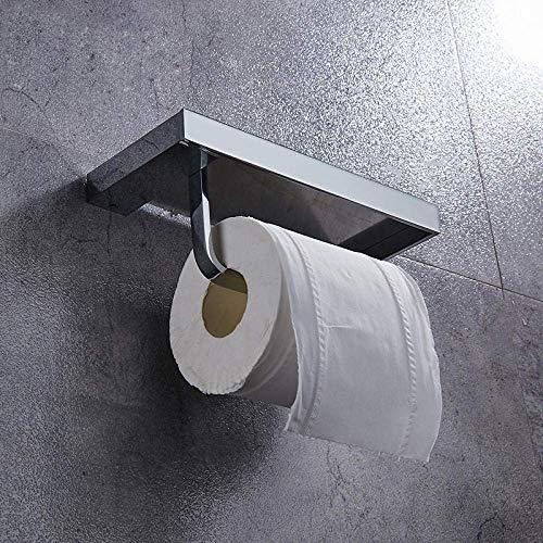 ZHTY Tenedor de Papel higiénico Accesorios de baño de latón Soporte de Tejido Toalla Rack Tiro Inodoro Dispensador con Almacenamiento de teléfono Estante de baño Song