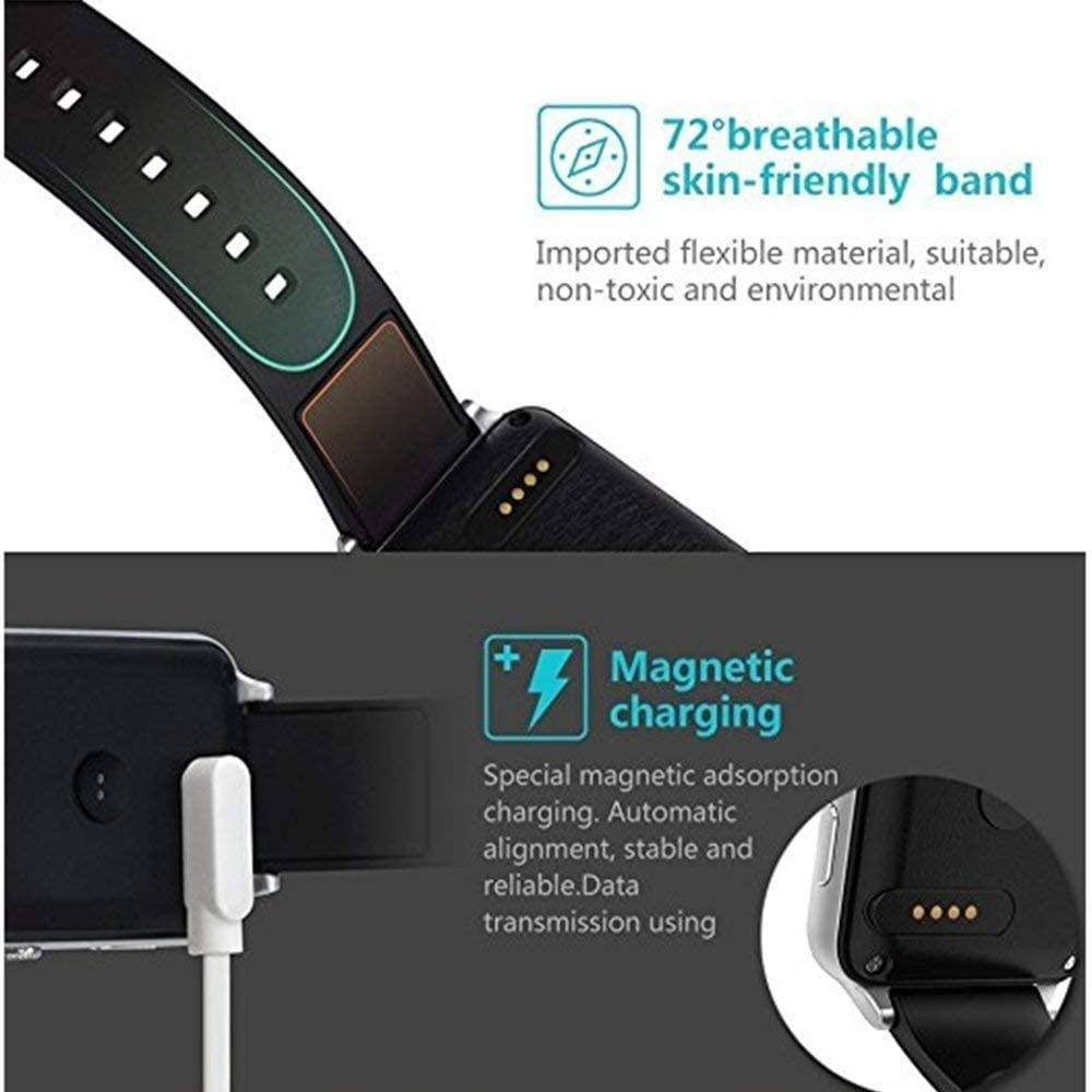 Picture Size is Correct(Be Sure to Check) 4 Pin Charging Cable for Smart Watch,DOCA 4 Pins Magnetic Adsorption USB Charger Cable for Bluetooth Smart Watches
