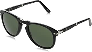 PO0714 95/31 Gloss Black PO0714 Round Sunglasses Lens Category 3 Size 54