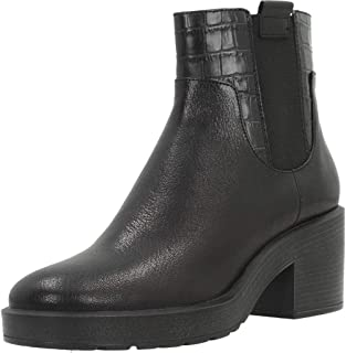 Geox D Stardust B Womens Leather Ankle Chelsea Boots Black