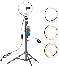 10.2 inch Selfie Ring Light with Tripod Stand & 2 Phone Holders,Anbes Dimmable Led Camera Ringlight for Photography/Makeup...