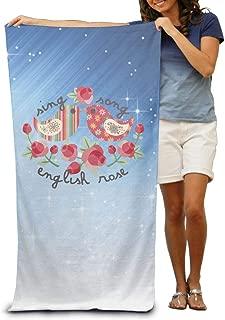 Aiguan Bath Towel - Flowers and Birds Soft Large Swim Beach Towels