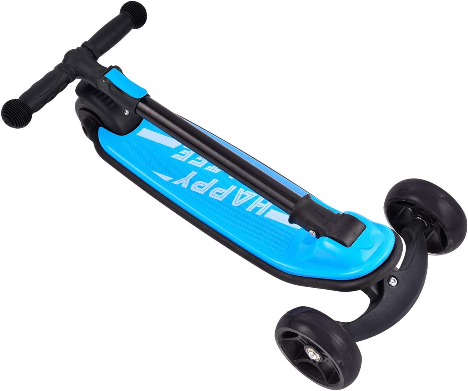 Boys and Girls Scooter with Light Up Wheels /& Adjustable Height Wide Deck Folding Portable Kick Scooters for Children 2-6 Years Old 3 Wheel Scooters Kick Scooter for Kids and Toddlers