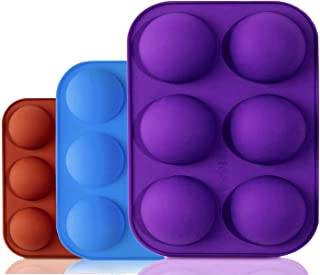 TruVeli Silicon 6 Cavity Semi Sphere Silicone Mold, Silicone Molds for Baking, Molds for Homemade Caramel Hard Candy Choco...