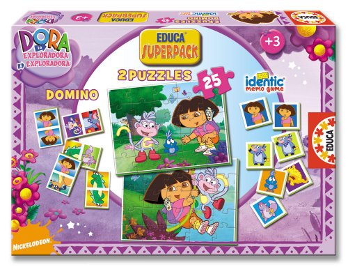 Educa Borrás 13314 - Educa Superpack Dora La Exploradora