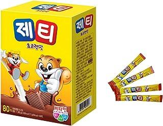 育児必需品韓国では食べたことがない人はいない! 제티 쵸코렛맛 17g * 80T 1回分ずつ小包装 ゼティ JETTY チョコレート味 冷水にも溶けやすく、持ち運びにも便利韓国より配送