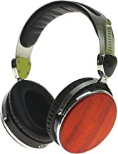 Symphonized Wraith 2.0 Premium Genuine Wood Over-Ear Headphones with In-Line Microphone, Tangle-Free Noise-Isolating Wired Stereo Earphones with Spare Replacement Cable Included, Cherry Finish