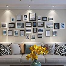 GJNVBDZSF Conjunto de molduras para foto grande multiparede conjunto de 28 para pendurar 3 tamanhos 12,7 x 8,8 cm, 17,7 x ...