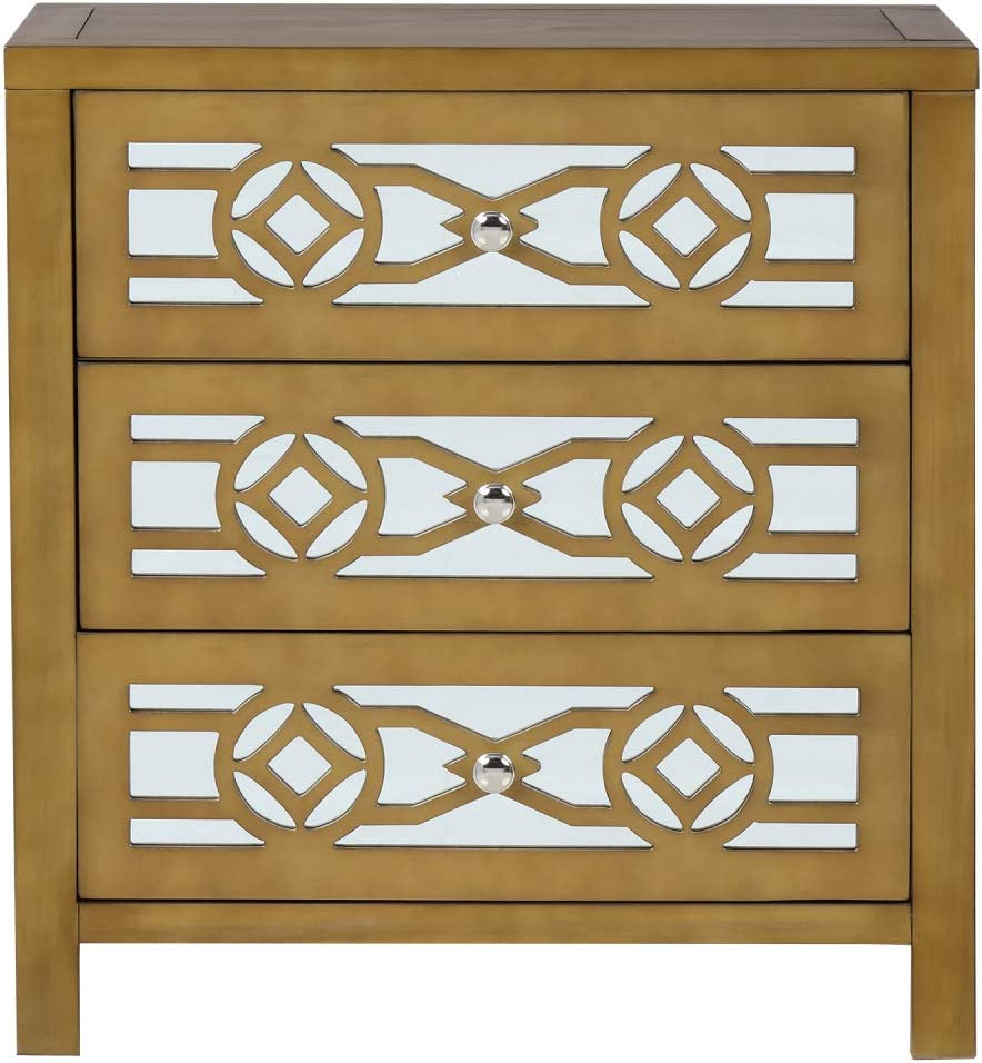 TITA-DONG Wooden Storage Cabinet with Over item handling ☆ and 3 outlet Decorative Drawers M