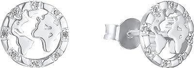 s.Oliver - Orecchini a bottone argento zirconia_cubica Donna, Argento, klein - 2032800