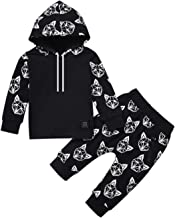 Toddler Infant Baby Boys Fox Long Sleeve Hoodie Tops Sweatsuit Pants Outfit Set