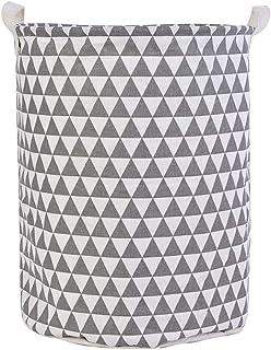 ZXXFR Corbeilles À Linge,Patternlaundry Triangle Gris Moderne Vêtements Sac Panier Sac À Linge Organisateur Panier Pique N...