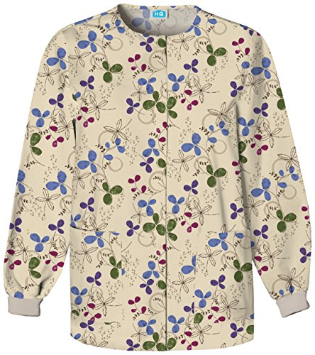 Scrub HQ Snap Front Warm-Up Scrub Jacket, 2XL, Clover Park