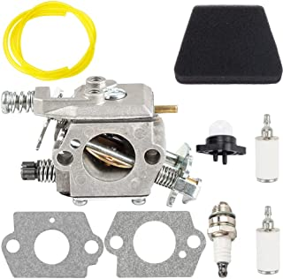 Dxent Carburetor Fuel Line Filter Kit fit Walbro W-20 WT-324 WT-624 Tune Up Parts Carb 545081885 Carby Craftsman Poulan Sears Engine