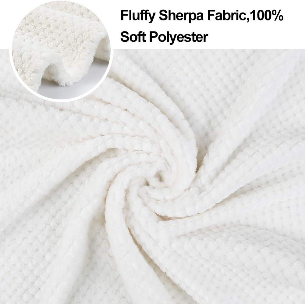 Onarway Fluffy Sherpa Dog Blankets Soft Washable Pet Throw Blanket Sleep Bed Mat