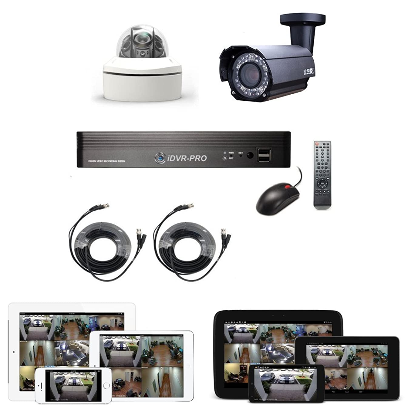 CCTV Camera Pros LPR-HD2X License Plate Capture Camera System, 1080p HD LPR Camera, HD CCTV DVR