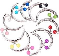 PH PandaHall 10pcs Colored Purse Frame Bag Kiss Clasp Lock Metal Arch Frame Coin Purse Silver Tone Mixed Ball