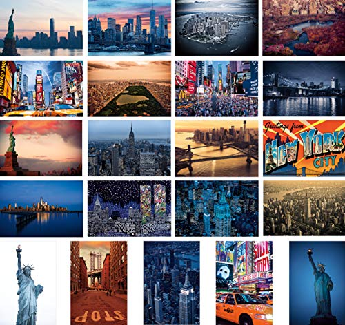 Set of 21 Large New York Refrigerator Magnets Souvenir Set of 3' x 4.5' Fridge Magnets with Great Printing Quality. Made in USA