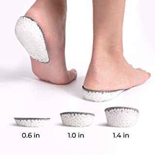 Heel Support Pad Cup Gel Silicone Shock Cushion Orthotic Insole Plantar Soft KY