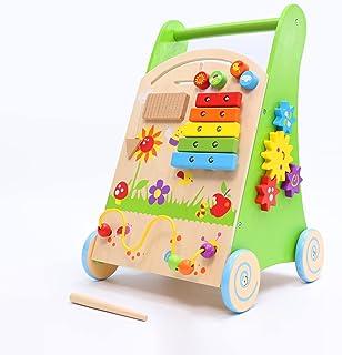 JOIWOD Baby Push Walker, Wooden Push Walker Toy for...