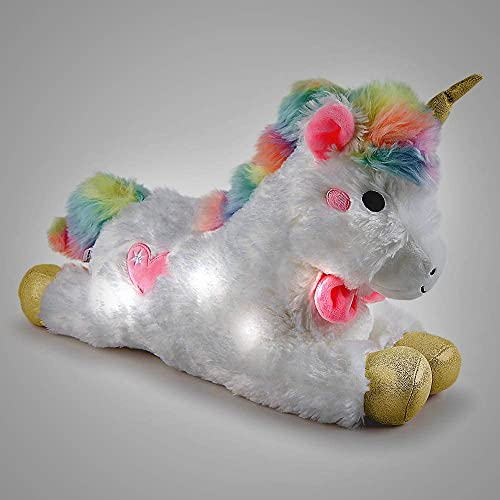 """2021 FAO SCHWARZ 15"""" Unicorn Plush Stuffed Animal with LED lowest Lights and Sound, Hug and Pet for Sound Effects, 2021 Ultra Soft for Cuddly Imaginative Play, Boys Girls Ages 3 & Up online sale"""