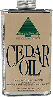 Cedar Oil - Giles and Kendall - Restores the Original Aroma of Cedar Wood, 8 oz