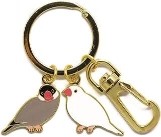 トーシンパック 鳥 piシリーズ 2連キーリング(文鳥)
