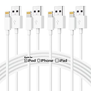 4Pack 10ft Apple Charger Cable, [Apple MFi Certified] Long Apple Lightning to USB Cable 10 Feet, Fast iPhone Charging Cord 10 Foot for Apple iPhone 12/11 Pro/11/XS MAX/XR/8/7/6s/6/5S/SE iPad