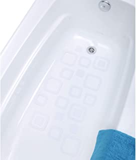 SlipX Solutions Adhesive Square Safety Treads Add Non-Slip Traction to Tubs, Showers & Other Slippery Spots - Design Your Own Pattern! (21 Count, Reliable Grip, White)