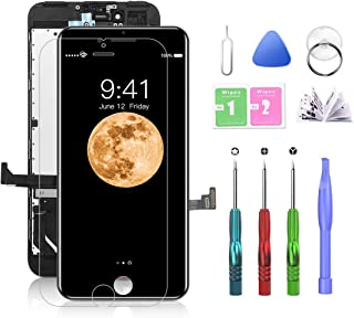 SZRSTH Compatible with iPhone 7 Plus Screen Replacement Black 5.5 Inch LCD Display with 3D Touch Screen Digitizer Frame As...