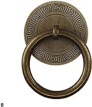Koperen deurklop voor kast, retro deurgreep, klassieke meubelgrepen, bronzen kleuren, schroef zwart, diameter 4 cm