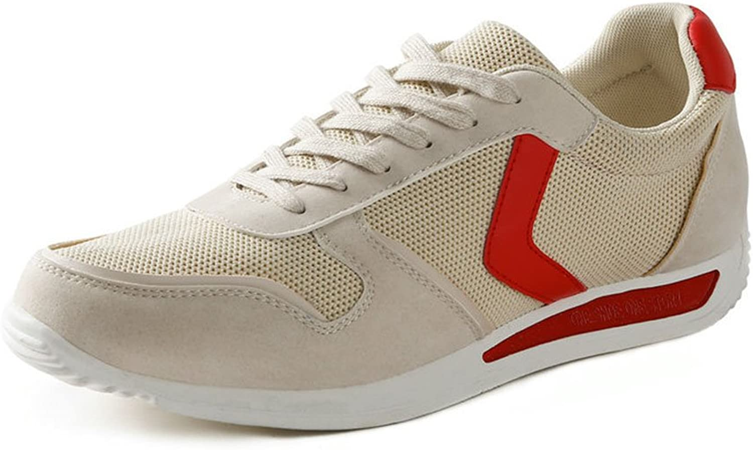 YIXINY 1184511152 Spring And Autumn Comfortable Breathable Casual shoes Men's shoes (color   Beige, Size   EU43 UK9 CN44)