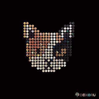 スパングル モチーフシート 猫 三毛猫 顔 アイロン接着 Sサイズ