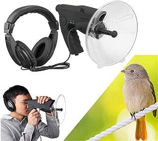 vmree Bird Listening and Recording Device 100m Long Range, Outdoor Bionic Telescope Binoculars Parabolic Microphone Monocular X8, Wildlife Bird Observing Equipment with Headphones