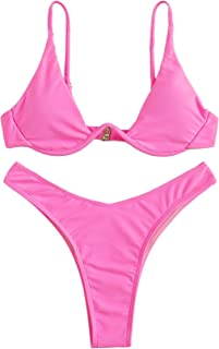 890b106754 Amazon.com: Pinks - Bikinis / Swimsuits & Cover Ups: Clothing, Shoes ...