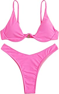 Women's Sexy Triangle Bathing Two Pieces Swimsuit Bikini Set