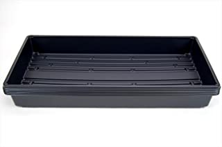 5 Pack of Durable Black Plastic Growing Trays (Without Drain Holes) 21