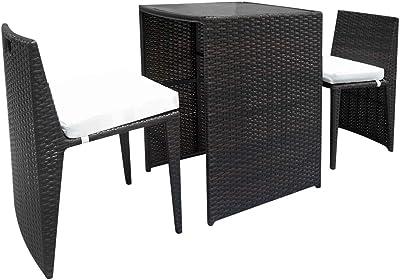 Amazon.com: Crown Mark - Juego de mesa Tyler de 4 piezas con ...