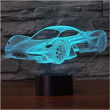 USB led lampe Lampe dambiance-Avion de combat 7 couleurs changeant Visualisation incroyable Uniquebella 3D Illusion optique