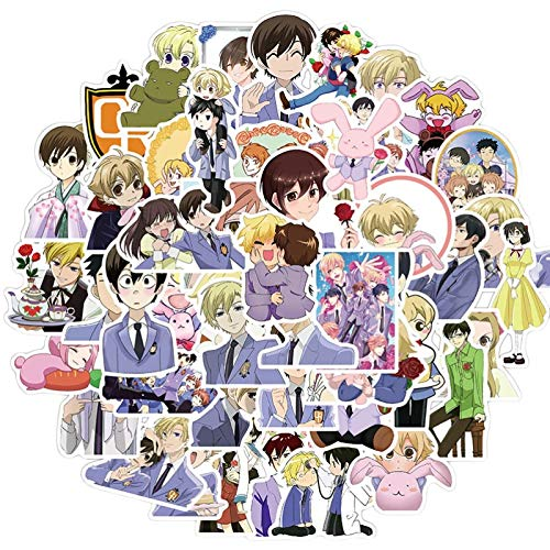 Ligoi 50pcs Ouran College Male Public Relations Department Graffiti Stickers Suitcase Motorcycle Trolley Case Notebook Waterproof Sticker