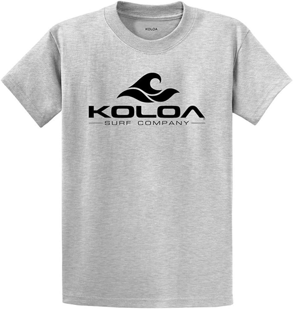 Koloa Surf Co. Wave Logo Cotton T-Shirts 2X-Large Tall -2XLT,Ash