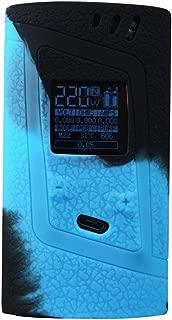 DSC-Mart Protective Case for Smok Alien 220W, Texture Silicone Skin Cover Sleeve Wrap Gel Fits SMOK Alien 220 Watt Kit Box Mod (Black-Blue)