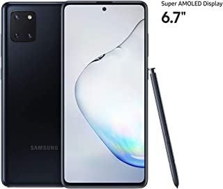 Samsung Galaxy Note 10 Lite Smartphone, 128 GB, 8 GB RAM, Dual SIM, Android, UAE Version - Black