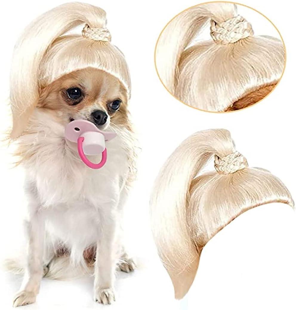 60% Off Coupon – Pet Dog Wig Blonde Ponytail Costume