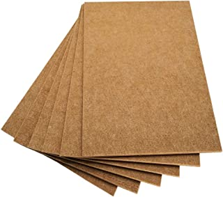 BXI Sound Absorber - Acoustic Absorption Panel - Polyester Fiber - Multiple Color Options - 16'' X 12'' X 3/8'' - 6 PACK (Milk Coffee)